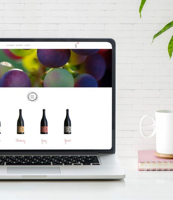 Site WordPress - Visuel de la creation du site web du Domaine de la Roche