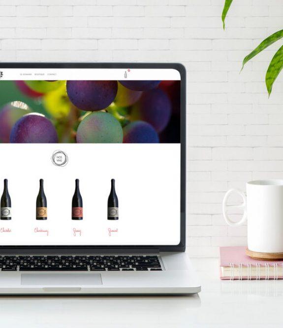 Site WordPress - Visuel pour présenter la création du site web du Domaine de la Roche - réalisation Elodie Castillo