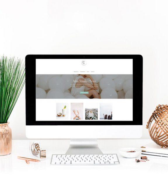 Visuel de présentation d'un site internet pour les photographes - iMac - Création site WordPress Genève